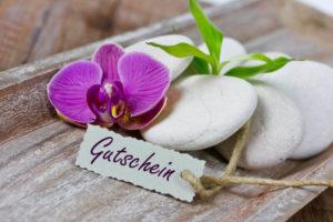 Massagegutschein, Geschenkgutschein, Massage zum Verschenken